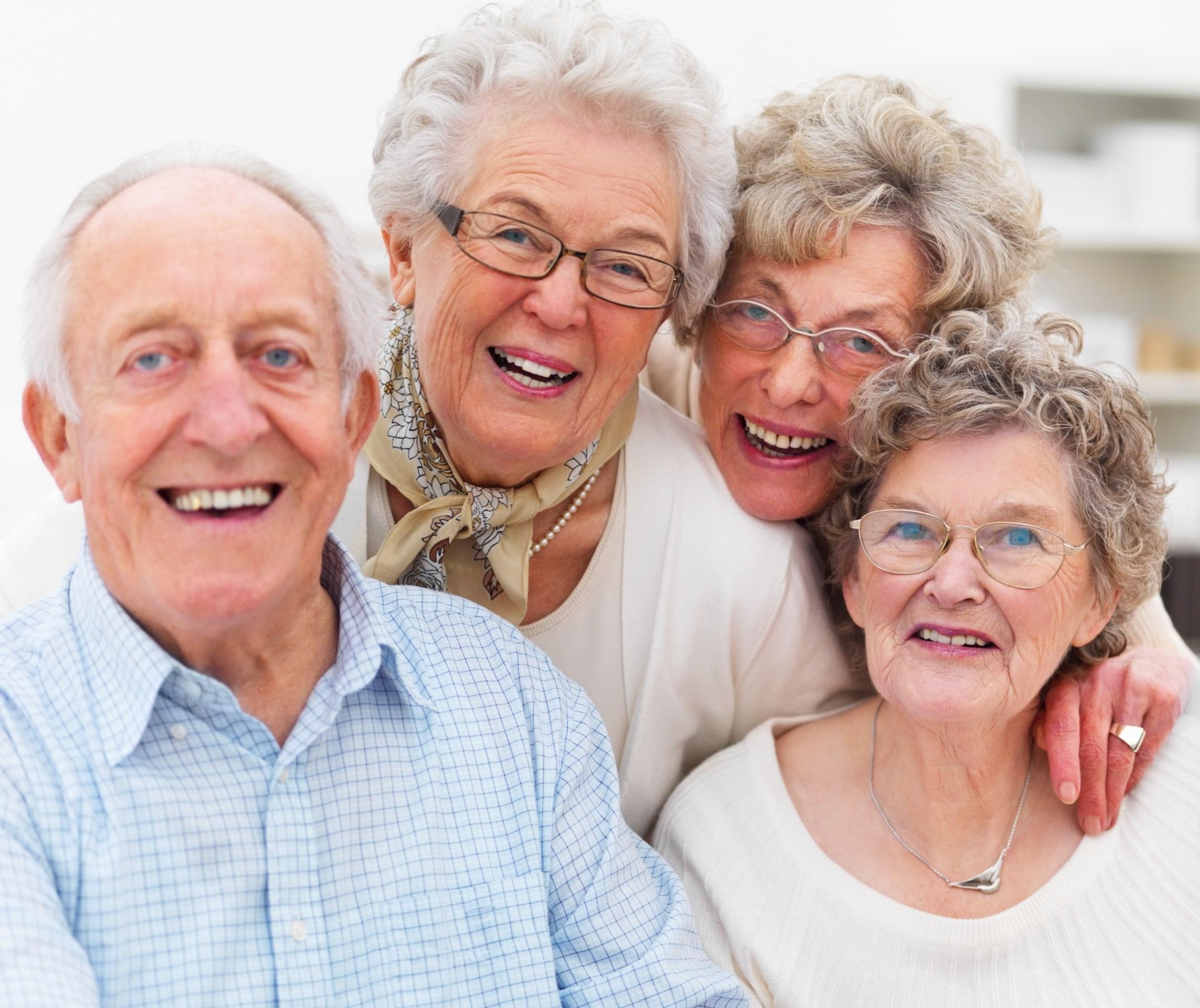 Group of older people's get together